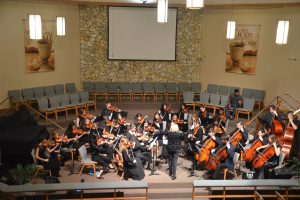 The Harmony Chamber Orchestra at its early February performance at Palm Coast's United Methodist Church. Click on the image for larger view. (© FlaglerLive)