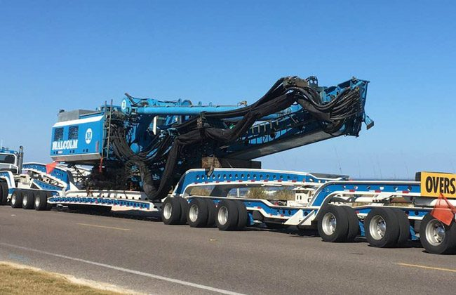 Flagler Beach Commissioner Rick Belhumeur took this shot Tuesday of heavy machinery wheeling into town to start construction on State Road A1A.