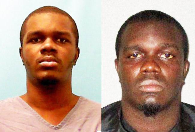 Henry Brock in his state prison mugshot, left, and in a Flagler County jail shot.