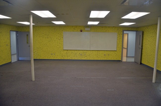 An interior room at the old Heritage charter school, soon to be Bunnell's City Hall. Click on the image for larger view. (© FlaglerLive)