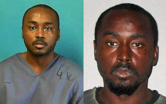 Samuel Higgins in his latest state prison phot, left, and in his jail booking photo at the Flagler jail.