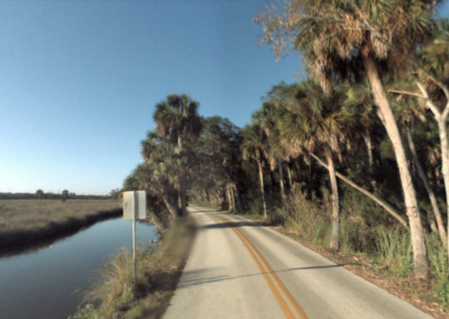 The area of Highbridge Road in Ormond Beach where Kenneth Morrow's shooting took place Wednesday.