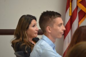 Palm Coast Mayor Milissa Holland and Council member Nick Klufas have been increasingly critical of the manager. (© FlaglerLive)