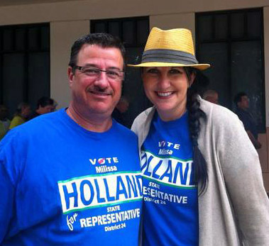 David O'Brien and Milissa Holland in a social media image from Holland's 2012 campaign for the Florida State House. Holland lost the race to Travis Hutson.