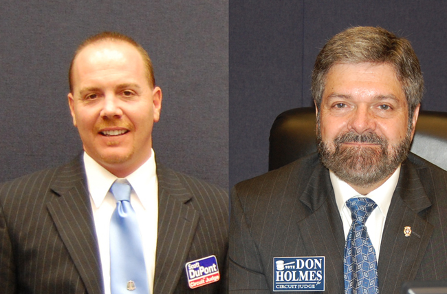 Scott DuPont and Don Holmes 7th judicial circuit court race flagler putnam st johns volusia counties florida