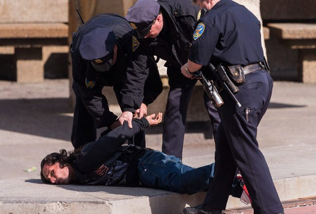 Arresting the homeless, instead of homelessness. (Shutterstock)