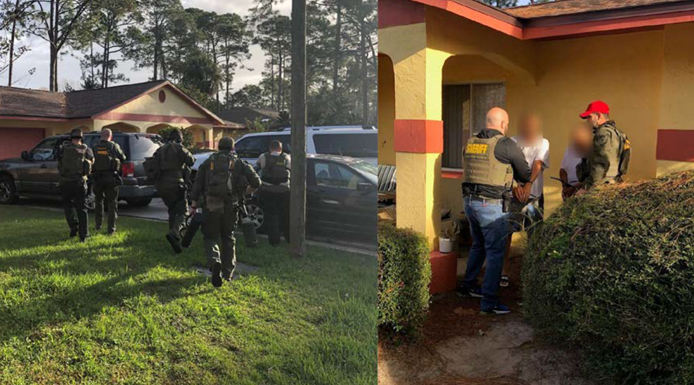 Images released by the sheriff's office about this morning's warrant serving at 49 Berkshire Lane in Palm Coast. Two people were detained and released after detectives and other units swept through the residence.