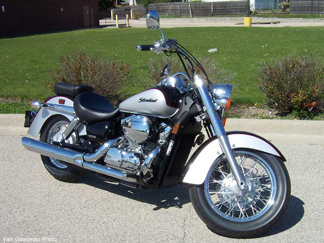 A 2004 Honda Shadow similar to the one involved in the I-95 wreck, near SR100, on Sunday.