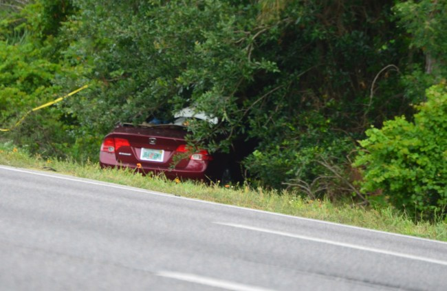 The Honda, whose driver was killed. Click on the image for larger view. (© FlaglerLive)