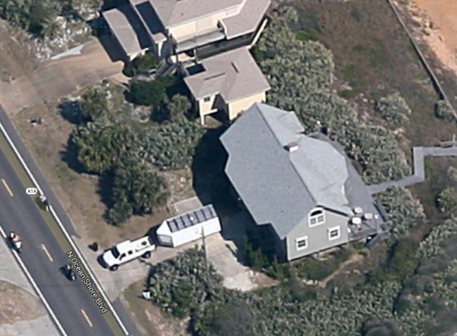 The house from the air.