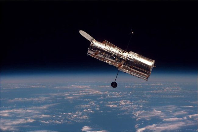 Hubble Space Telescope is 29 years old: it was deployed by Space Shuttle Discovery on this day in 1990, after its launch from the Kennedy Space Center on April 12.  (NASA)