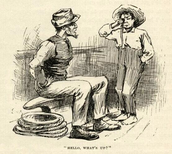 huckleberrry finn mark twain hellow what's up e.w. kemble illustration