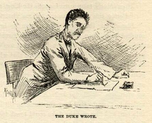 mark twain huckleberry finn chapter 29 e.w. kemble original illustrations full text