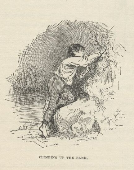 huckleberry finn chapter 16 e.w.kemble illustrations climbing