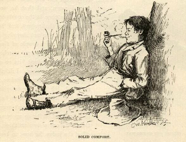 huckleberry finn E.W. Kemble's original illustrations