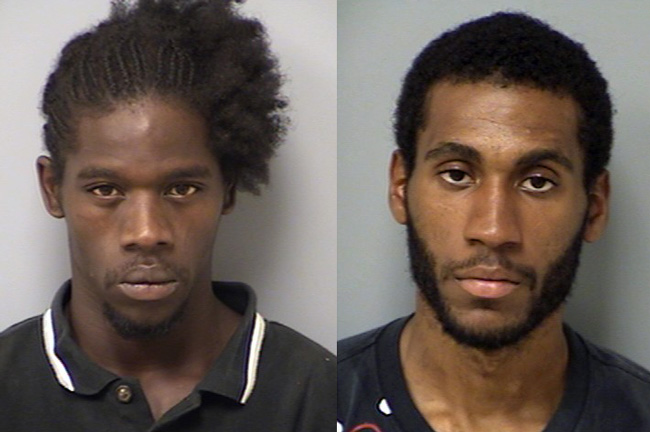 Keith Humprey, left, and Tyshon Markese, were arrested after an hours-long search at the Flagler-St. Johns County line Wednesday.