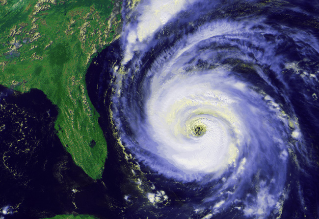 Hurricane Fran in 1996 made landfall in North Carolina, but spared Florida, which has been hurricane-free since 2005. (NASA)