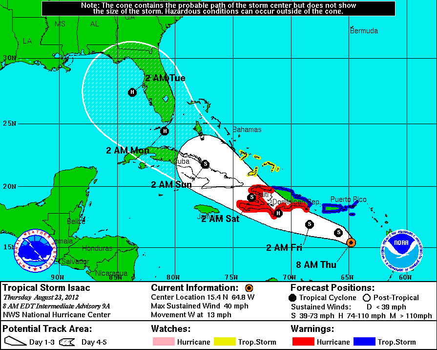 Isaac Now A Category 1 Hurricane Makes Louisiana