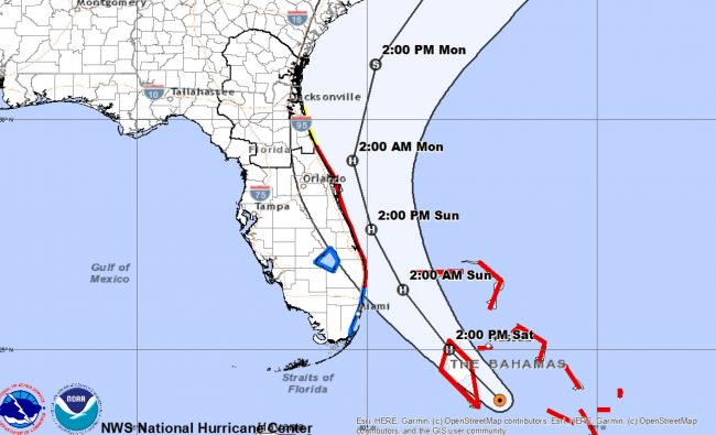 Hurricane Isaias is expected to stay offshore but cause significant storm surge and tropical storm conditions in the eastern portion of Flagler County. (National Weather Service Jacksonville)