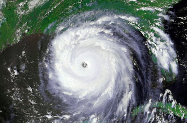 Hurricane Katrina on Aug. 28, 2005. (NOAA)