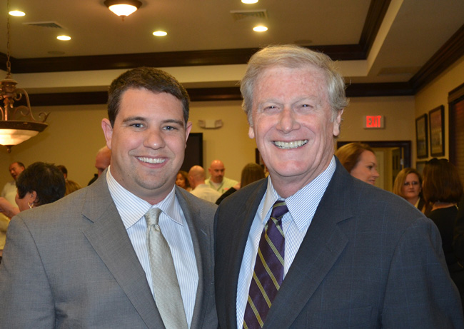 John Thrasher, right, will be Florida State University's next president, and Travis Hutson, until now the junior member of Flagler County's legislative delegation, is considering a run for Thrasher's seat. (© FlaglerLive)