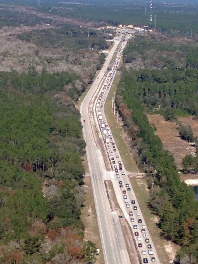 Traffic on U.S. 1 in an image provided by the St. Johns County Sheriff's Office.