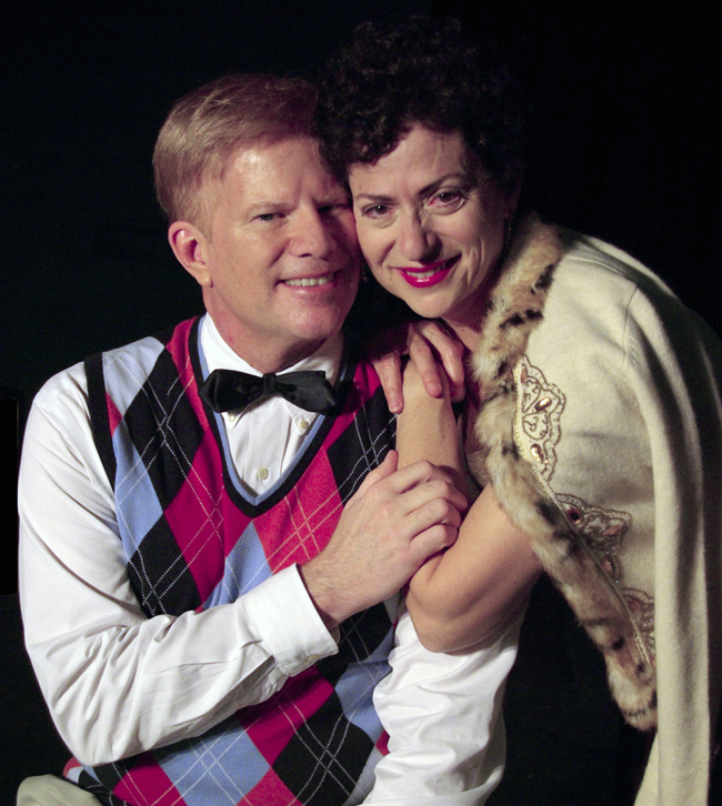 Julia Davidson Truilo and Lloyd Bowers in 'I Do! I Do!' at Palm Coast's City Repertory Theatre.