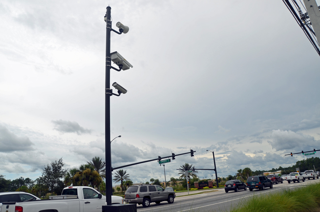 Those who said the red-light cameras were illegal before 2010 were right, the Florida Supreme Court ruled today. (© FlaglerLive)