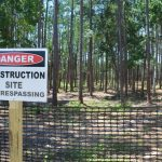 The site of what will be the new sheriff's operations center in Palm Coast. The county is looking for revenue. New impact fees may provide it. (© FlaglerLive)