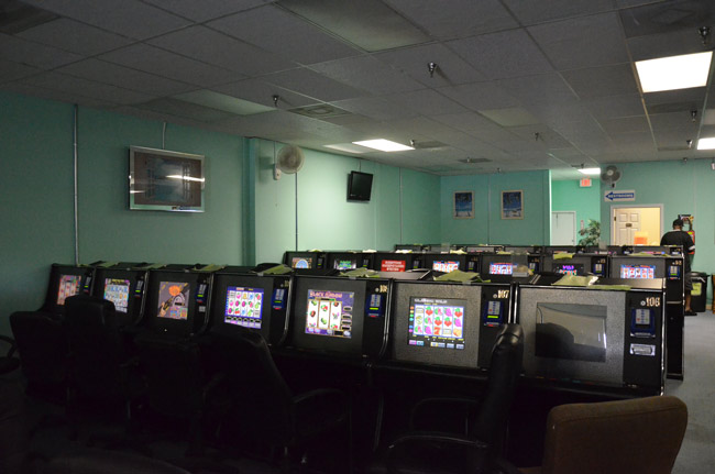 The lights may soon dim on internet cafes in Palm Coast and Florida as the Legislature's momentum to ban the gambling establishments picks up steam. (© FlaglerLive)
