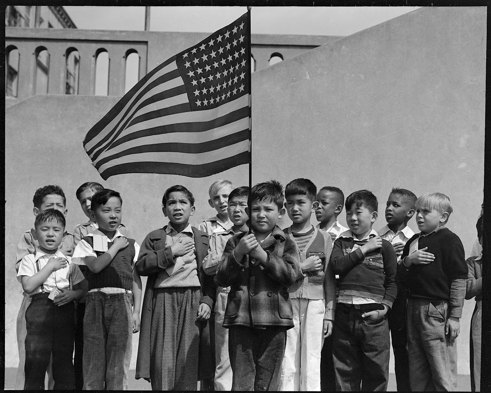 Franklin Roosevelt on this day in 1942 signed Executive Order 9066, authorizing the internment of 110,000 Japanese American citizens living on the West Coast in concentration camps, an illegal action the U.S. Supreme Court recognized as such only in 2019. They were not allowed to return home before January 1945. Dorothy Lange)