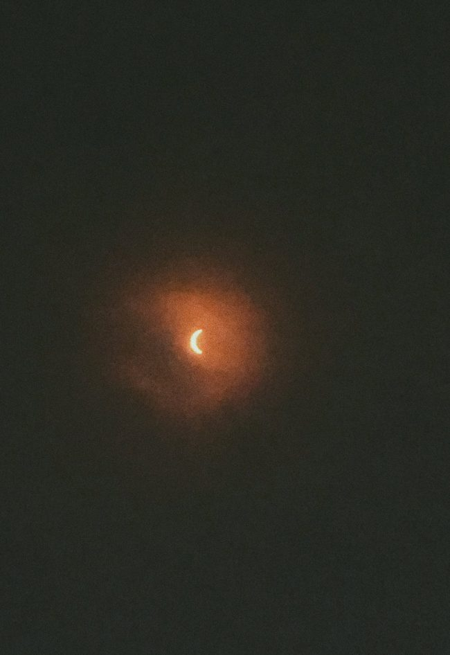 An image of the eclipse contributed by Flagler Beach Fire Chief Bobby Pace, who traveled to the Isle of Palms near Charleston, S.C., to witness the eclipse in its totality. (© Bobby Pace for FlaglerLive)