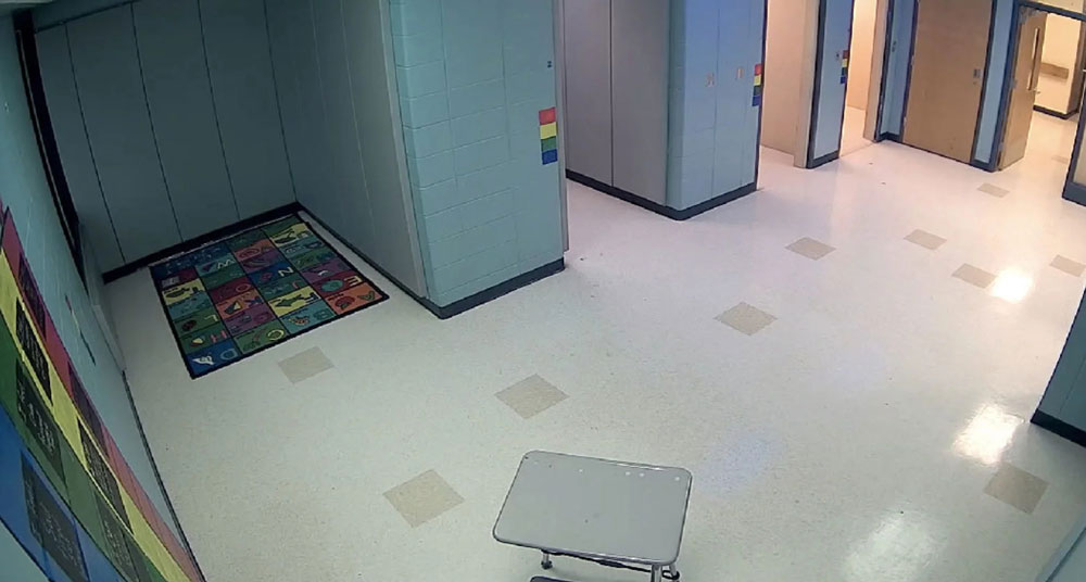 "The doors have been removed in the ""Office Intervention"" area at Gages Lake School, where students previously were put in isolated timeouts. (Special Education District of Lake County, Ill.)"