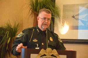 Undersheriff Jack Bisland led the domestic violence task force on the sheriff's behalf. (© FlaglerLive)