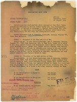 Jackie Robinson's court-martial letter. He requested a discharge two days later. Click on the image for larger view. (National Archives)