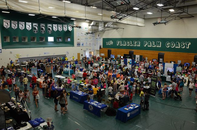The Back to School Jam takes place at the Flagler Palm Coast High School gym from 10 a.m. to 1 p.m. Saturday. (© FlaglerLive)