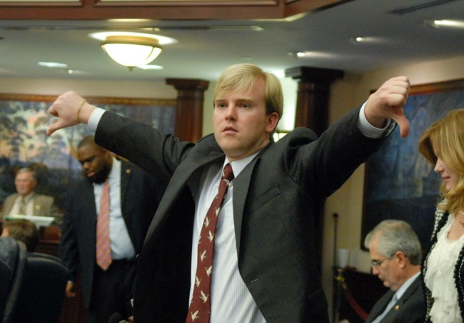James Grant, the Tampa Republican  and chairman of the House Select Committee on Claim Bills, rejected local governments' worries about raising the ceiling on lawsuit claims. (House photo)