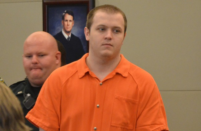 James McDevitt just before changing his plea to guilty today in circuit court. (© FlaglerLive)