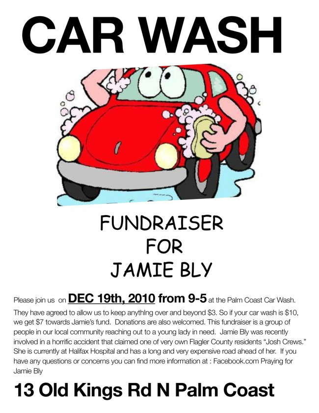 Jamie Bly car wash fund-raiser palm coast