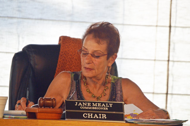 Flagler Beach City Commissioner Jane Mealy currently chairs the commission. (© FlaglerLive)