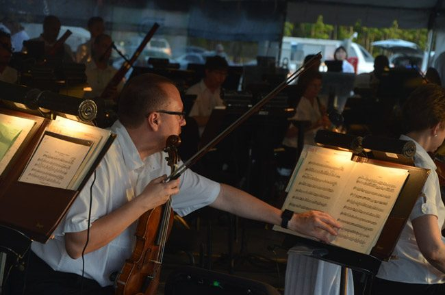It's go time for the Jacksonville Symphony at the Palm Coast Arts Foundation's Picnics and Pops concert Sunday evening in Town Center. See below for details. (© FlaglerLive)