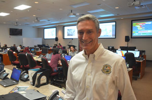 Flagler County Property Appraiser Jay Gardner in October at the county's Emergency Operations Center. (© FlaglerLive)