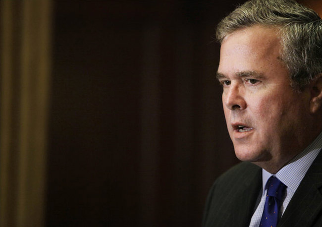 Jeb Bush is putting a little distance between himself and the nuttier side of the GOP.