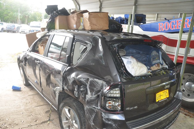 suv jeep wreck pet rat