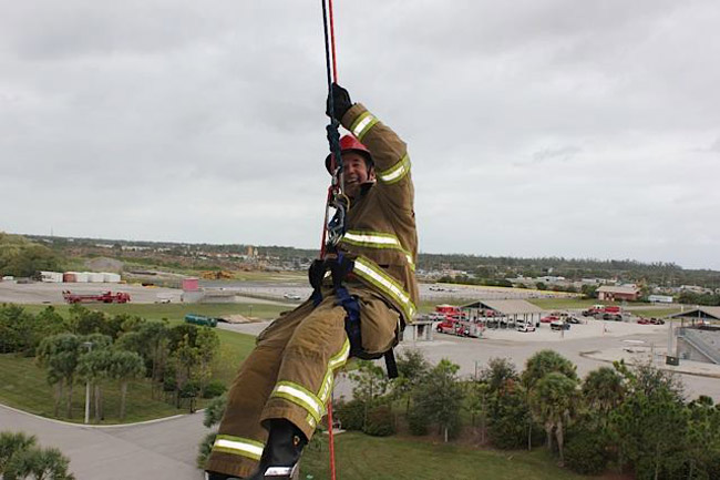 Jeff Atwater, Florida's Chief Financial Officer, during a visit with Palm Beach County Fire Rescue last November. (Facebook)