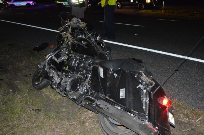 Jeffery Coffman had been riding a 2017 Harley Davidson when he crashed off U.S. 1's Triple A Curve. Click on the image for larger view. (FHP)