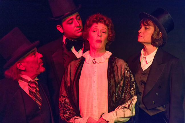 Find Jekyll, or Hyde. From left, John Sbordone, Josh Fagundes, Bobbi Fouts and Peggy Jones.