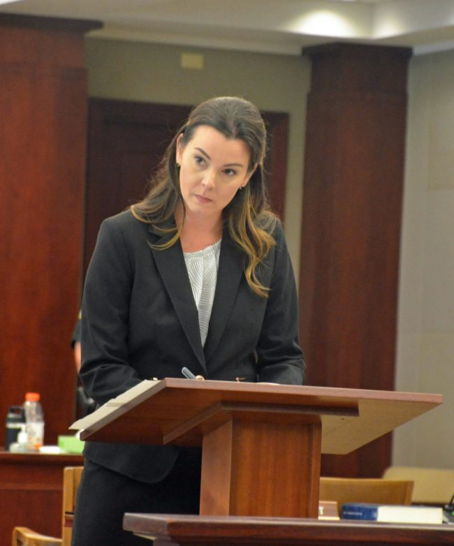 Assistant State Attorney Jennifer Dunton. (© FlaglerLive)