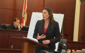 Assistant State Prosecutor Jennifer Dunton prosecuted the case. (c FlaglerLive)