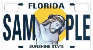jesus license plate florida senate